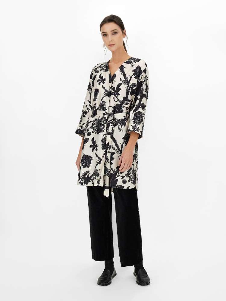 Silk twill dress
