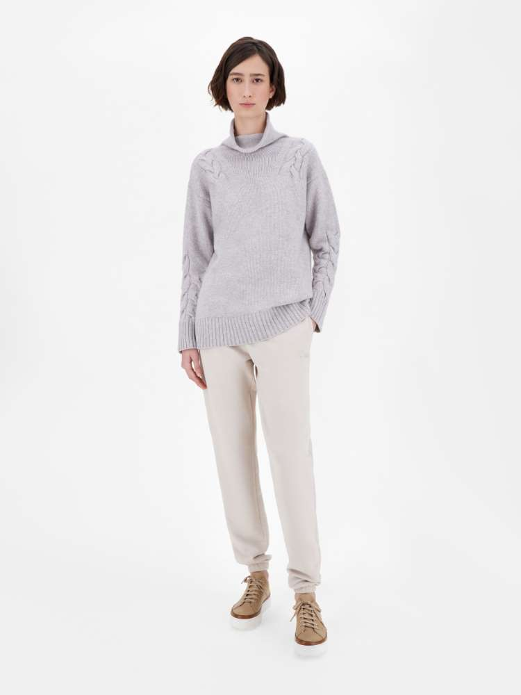 Wool and cashmere polo-neck sweater