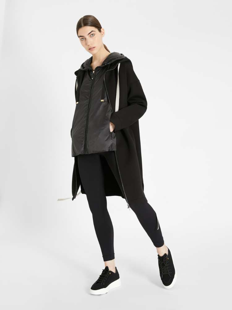 Water-repellent technical fabric travel jacket