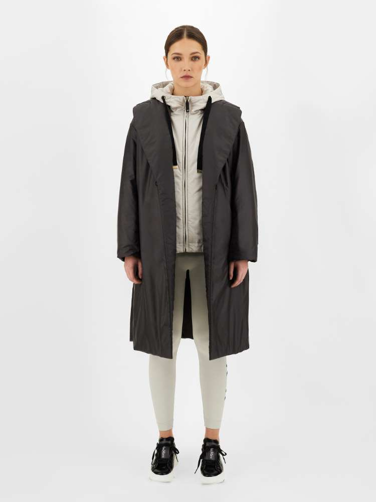 Water-repellent technical fabric coat