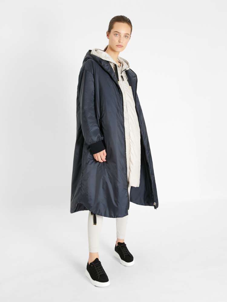 Water-repellent technical fabric parka