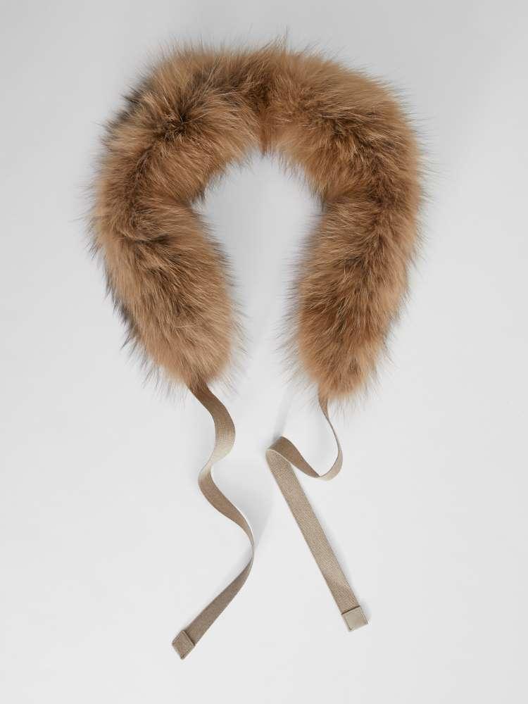 Fox fur hood trim